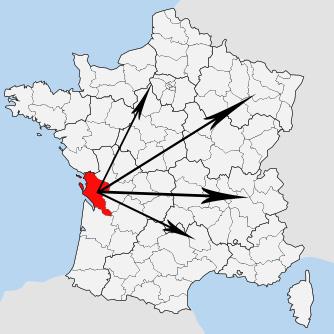 Livraison au départ de Saintes (17) vers la France